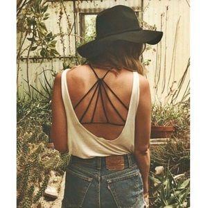 [Free People] Black Strappy Back Bralette